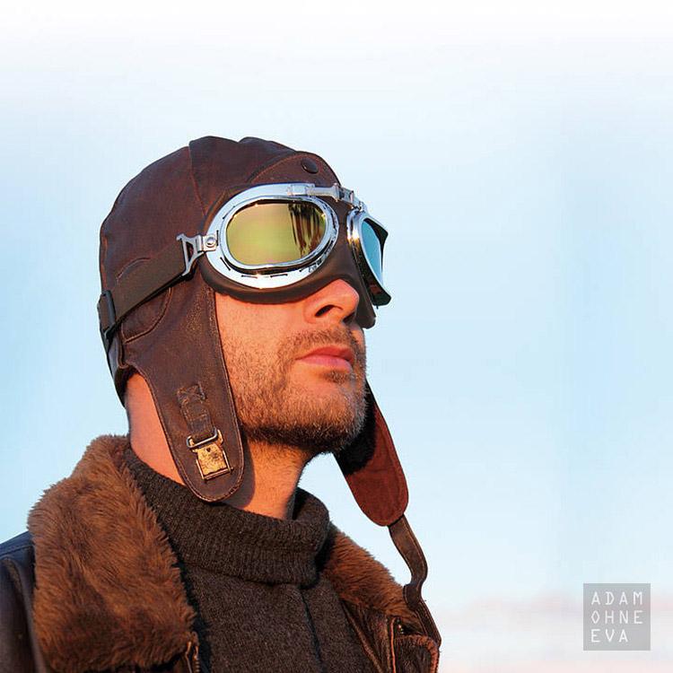 AVIATOR C - Oldtimer-Fliegerbrille im Retro-Look (im Etui) braun | Geburtstagsgeschenke für Männer