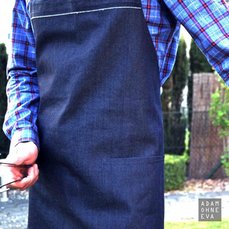 Grillschürze - hochwertig genäht aus Baumwolle in Jeansoptik | Geschenke für Männer