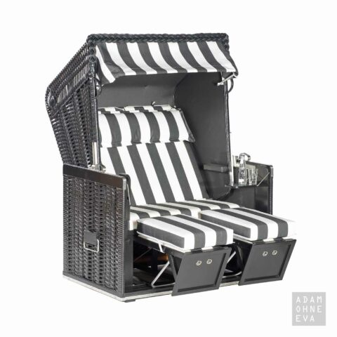 original ostsee garten strandkorb rustikal 250 basic halbliegemodell in ostseeform. Black Bedroom Furniture Sets. Home Design Ideas