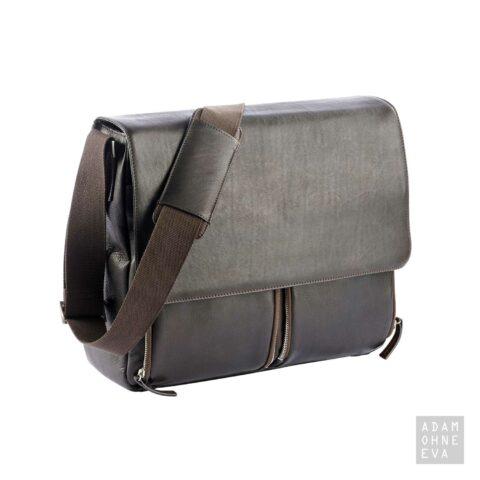 Hochwertige Aktentasche aus Rindleder mit Überschlag, Braun, Dermata | Geburtstagsgeschenke für Männer