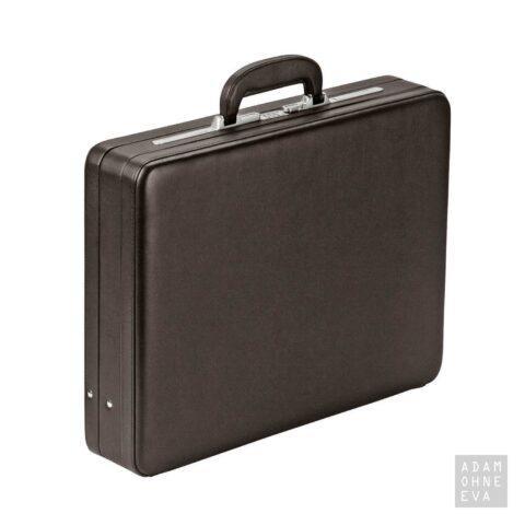 Hochwertiger Aktenkoffer aus Rindleder mit Zahlenschloss, Braun, Dermata | Geschenke für Männer