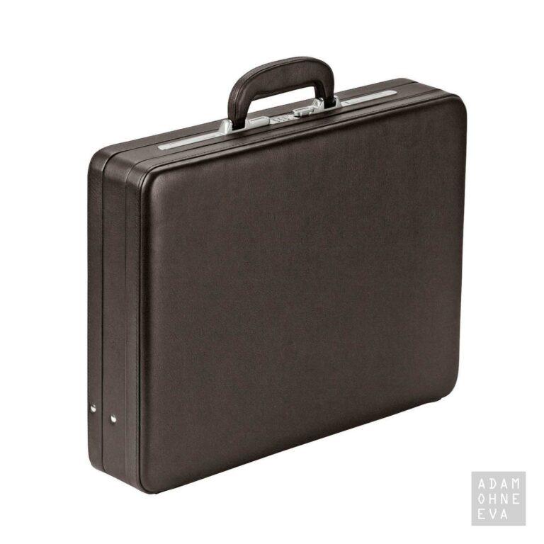 Hochwertiger Aktenkoffer aus Rindleder mit Zahlenschloss, Braun, Dermata   Geschenke für Männer