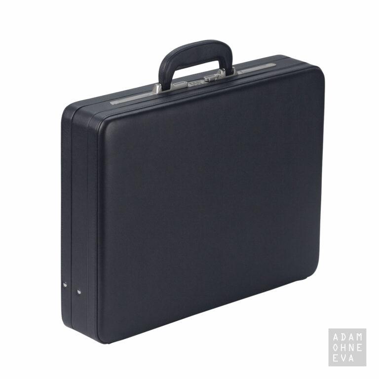 Hochwertiger Aktenkoffer aus Rindleder mit Zahlenschloss, Schwarz, Dermata | Männergeschenke