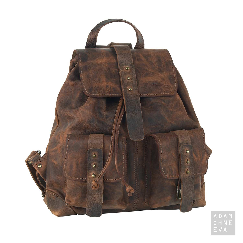 Hochwertiger Rucksack aus Leder (Serie Classic)