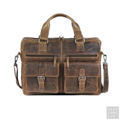 Businessbag mit Gurt, Umhängetasche aus Leder (Serie Montana), Greenland | Geschenke für Männer