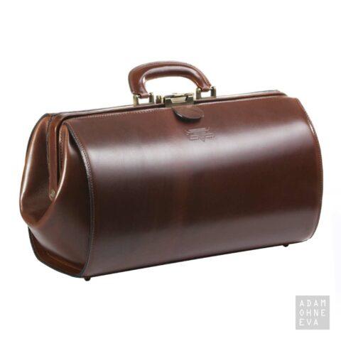 Hochwertige Doktorentasche aus Sattelleder, Braun, MIKA | Geburtstagsgeschenke für Männer
