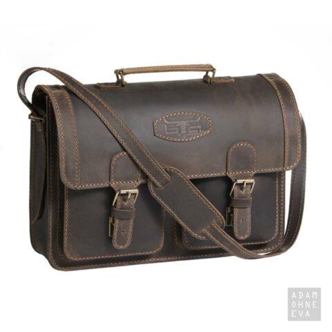 Hochwertige Aktentasche aus Sattelleder, Braun, MIKA | Geburtstagsgeschenke für Männer