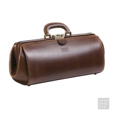 Hochwertige Doktorentasche aus Sattelleder, Braun, MIKA | Geschenke für Männer zum Geburtstag