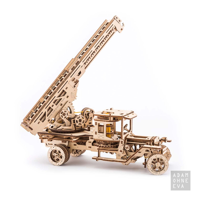 Feuerwehr Drehleiter Aus Holz 3d Puzzle Modellbau Mit 537 Bauteilen