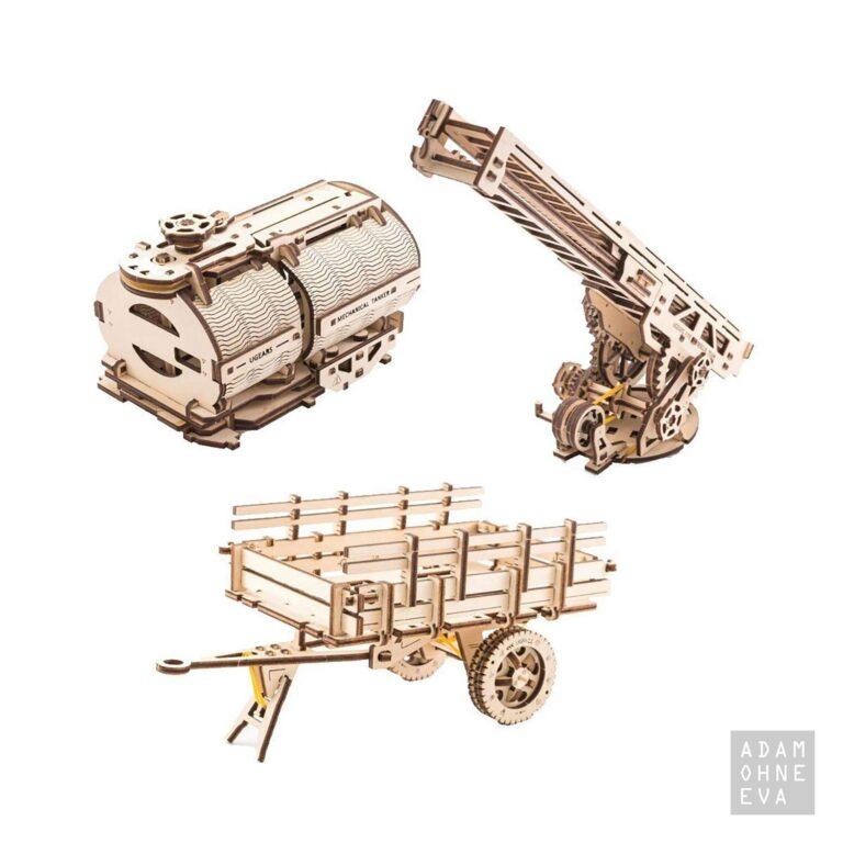 LKW Erweiterungsset aus Holz – 3D-Puzzle Modellbau mit 322 Bauteilen, Ugears | Geschenke für Männer