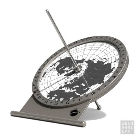 Sonnenuhr - POLARIS Tischversion aus Edelstahl und Brillenglas, Helios | Geschenke für Männer